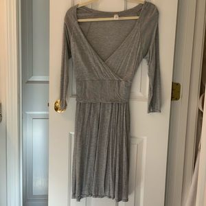 Lucy Grey wrap dress